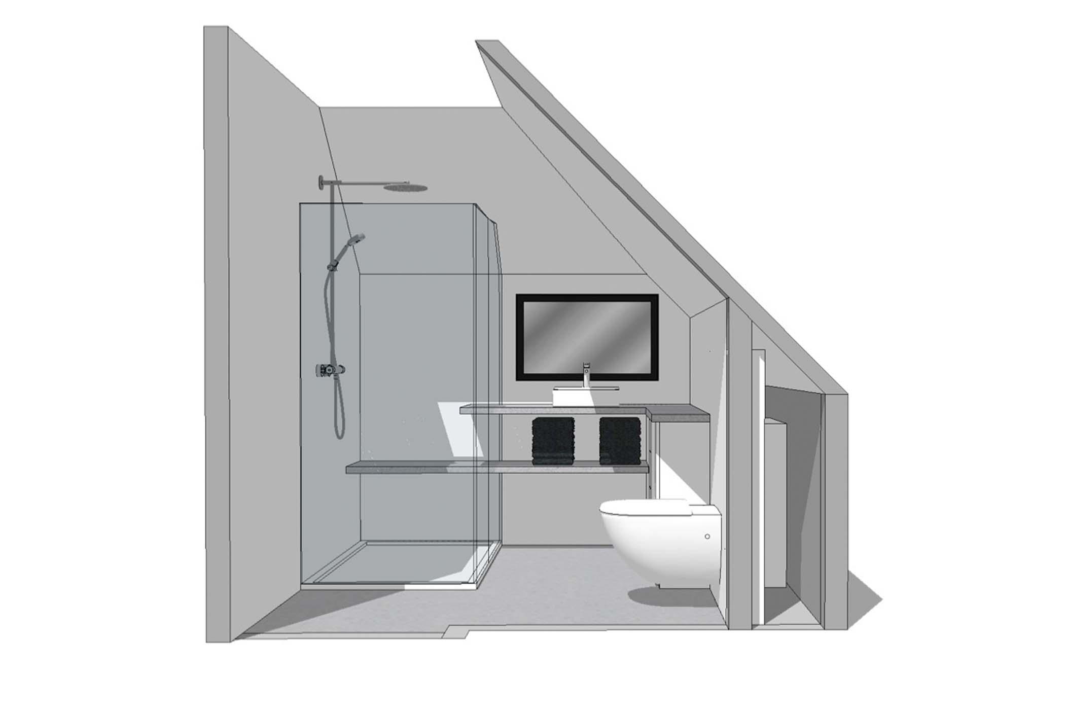 nieuwe badkamer ontwerp vanaf huis iredesign ontwerp