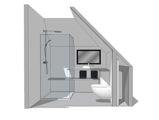 Nieuwe badkamer ontwerp vanaf huis!