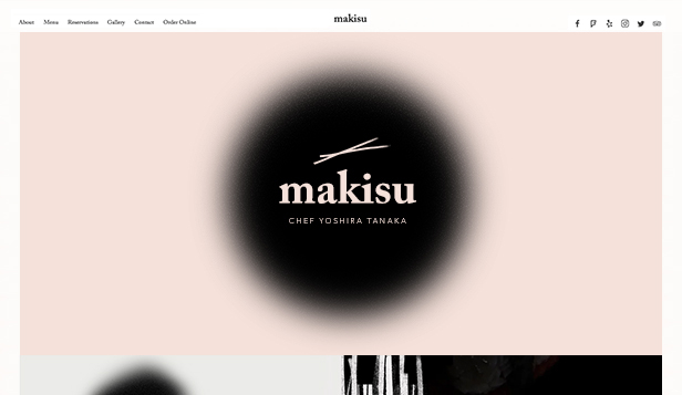 Restaurant website templates – Japanese Restaurant