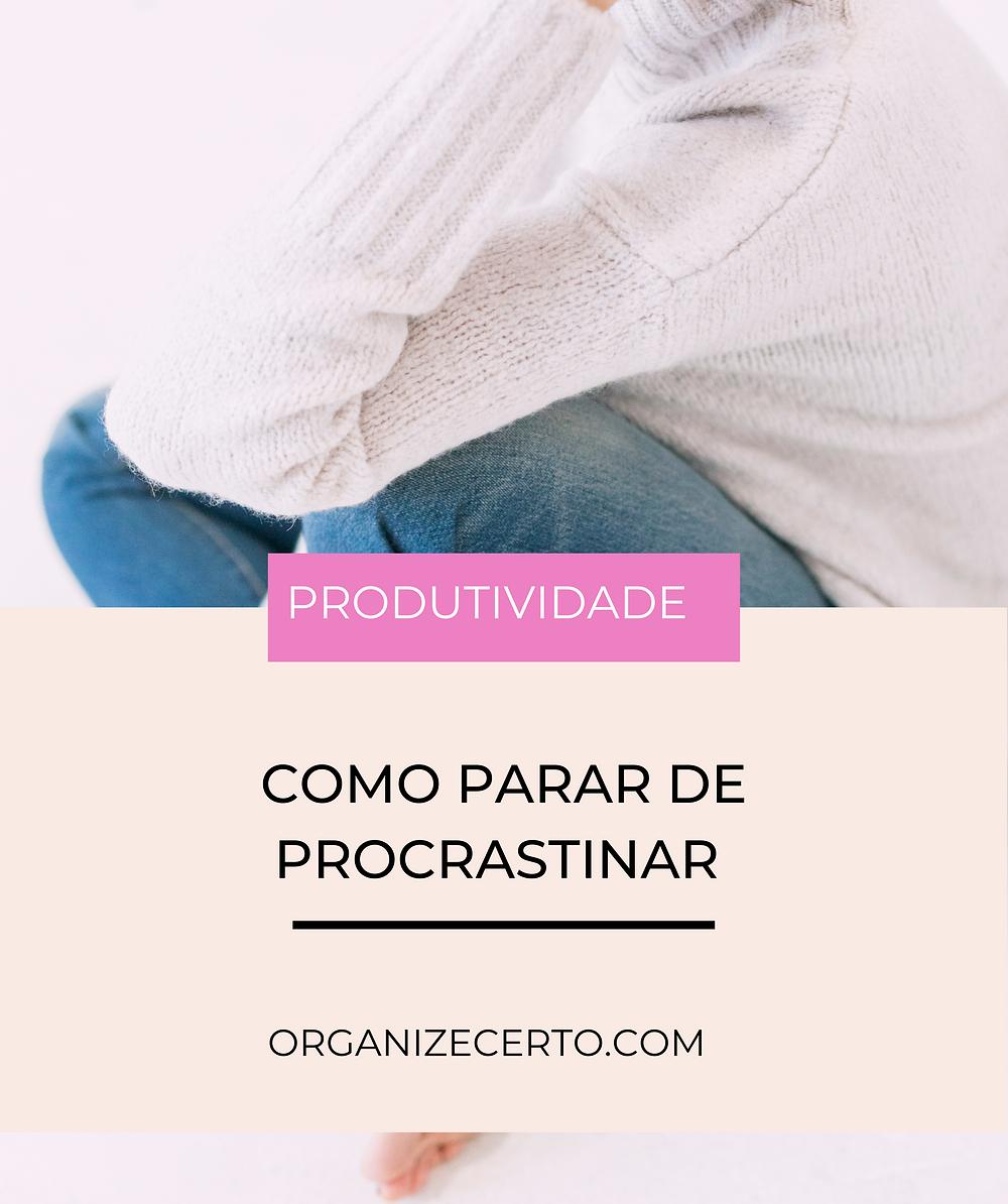 pare de procrastinar