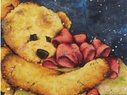 Teddy with Present - Batik