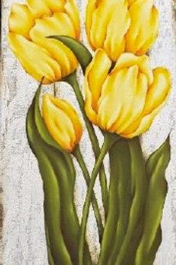 Tulips -Oils & Acrylics