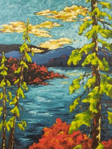 Vivid View Landscape - Oils