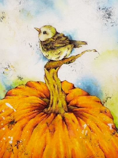 Punkin - Watercolour Batik