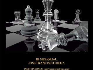Convocatoria del III Torneo Activo Memorial José Francisco Ojeda González