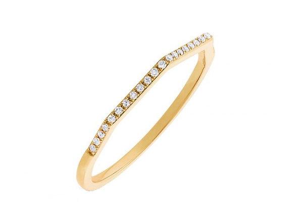 YELLOW GOLD DIAMOND THIN EDGE RING
