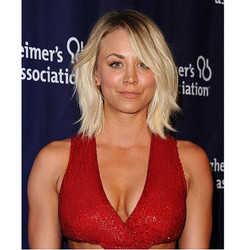 Lovely #KaleyCuoco last night in our rose gold ruby & diamond studs