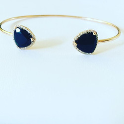 #Onyx and #Diamond open bangles are back in stock. Email us for info