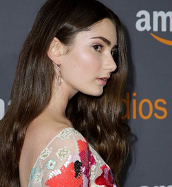 Emily Robinson in Randall Scott styled by _mrmontyjackson for the Amazon Golden Globes party