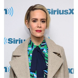 Sarah Paulson wearing #RandallScott today! You can find her earrings at our store in Malibu this wee