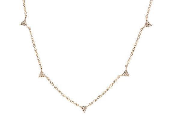 MINI DIAMOND TRIANGLE NECKLACE