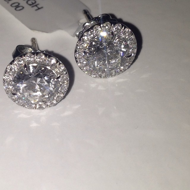 These stunners...2 carats total