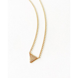 Sometimes you just need to keep it simple. Single diamond triangle necklace avail in rose, yellow or