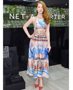 Annalise Basso earlier this week at the #netaporter event in Randall Scott styled by _alfiebakerstyl
