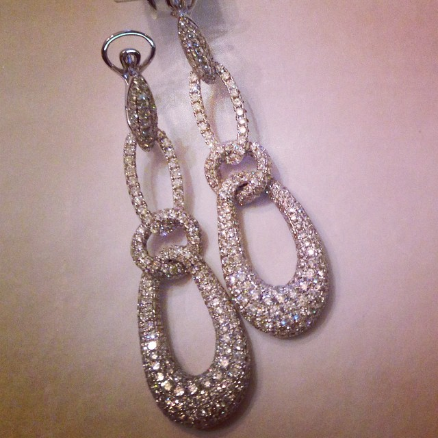 With almost 6 carats of diamonds how could you go wrong!_ 💎💎 #nowavailable #finejewelry #earrings