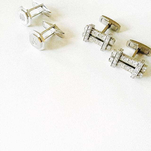 We can't leave out the guys! Custom cufflinks are always avail! #nowavailable #randallscott #luxury