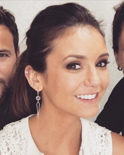 Oh hey Nina Dobrev! Rocking our special order labradorite and diamond drop earrings on an upcoming e