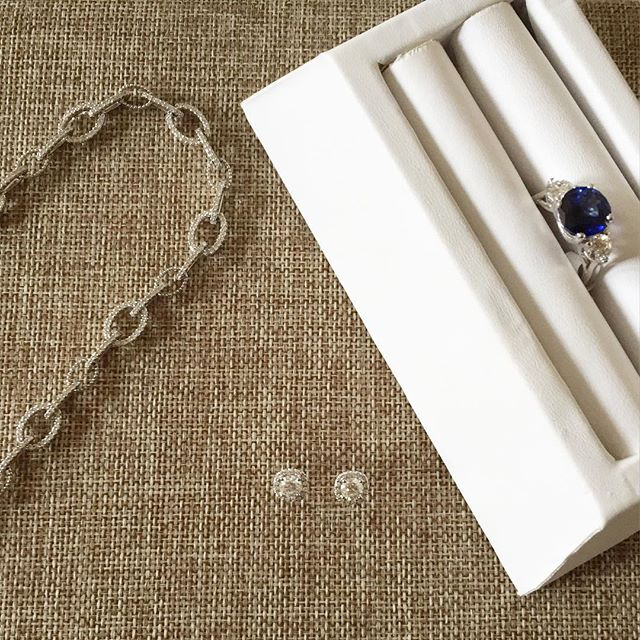 A few of our classic #luxury pieces. #diamond link #necklace, #sapphire and diamond #ring, and a dia
