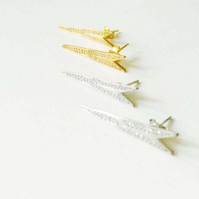 GOLD & DIAMOND LINE DAGGER LONG EARRINGS __ NOW AVAIL __ #nowavailable #randallscott #finejewelry #j
