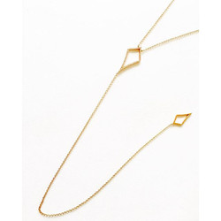 An #everyday piece.  We call it the _pinched_ lariat. 14k with diamonds. Contact us for info