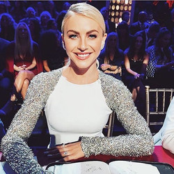 Julianne Hough wearing Randall Scott earlier this week styled by _anitapatrickson #stunning #TBT #ju