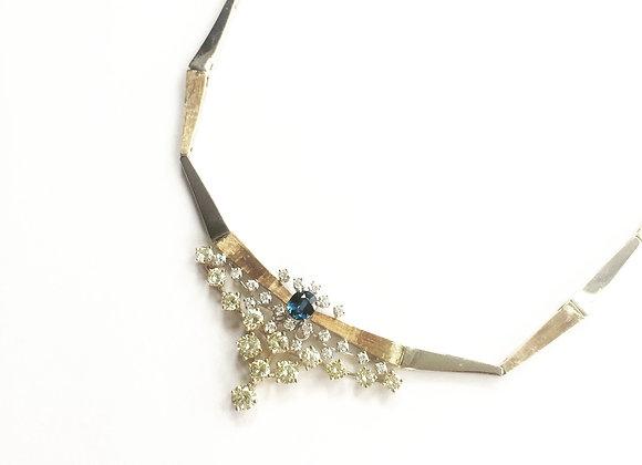 VINTAGE DIAMOND & SAPPHIRE NECKLACE