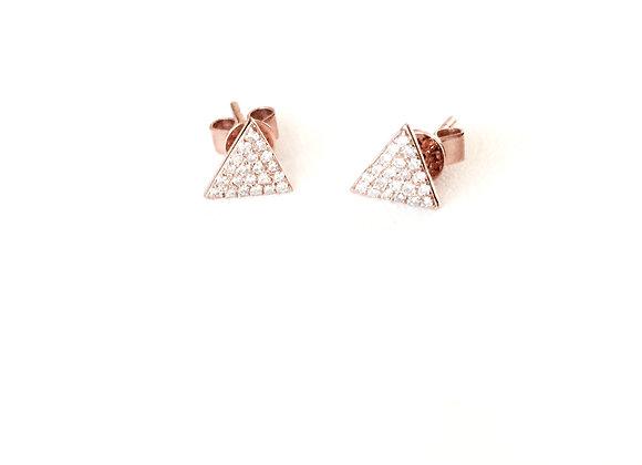 DIAMOND TRIANGLE STUD EARRINGS
