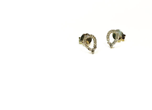 PEAR CLUSTER DIAMOND STUDS