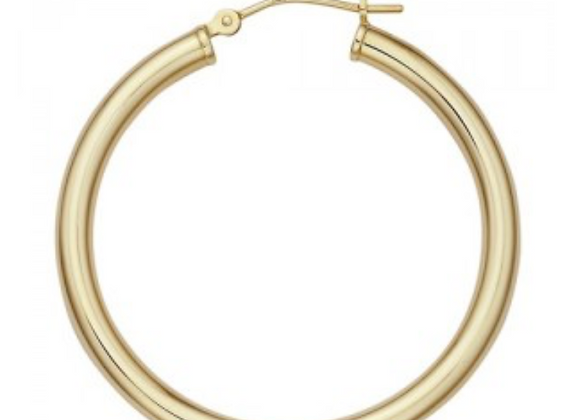 35 MM THICK GOLD HOOPS