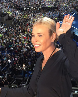 When _chelseahandler chooses to wear her personal pair of #RandallScott signature 3D Diamond Triangl