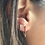 Thumbnail: ELONGATED DIAMOND TRIANGLE STUD EARRINGS