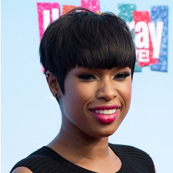 Jennifer Hudson with a touch of Randall Scott. Styled by _micaelaerlanger (3D diamond triangle studs
