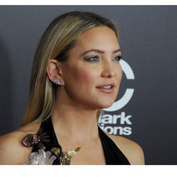 Kate Hudson wearing Randall Scott's Diamond & Topaz Angel Crawlers (avail on the site) styled by _so