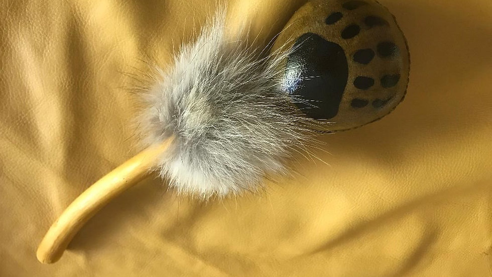 Elk hide rattle