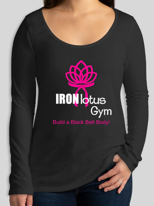 Iron Lotus Long Sleeve Slim Fit T-shirt