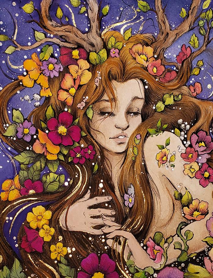 Daphne in Bloom