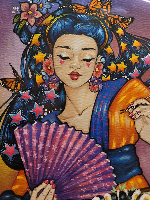 """""""Sushi Girl"""" Limited Edition Print"""