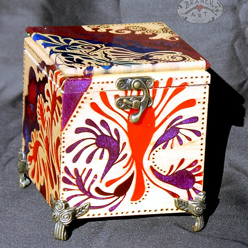 Maple Abstract Music Box