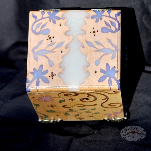 Midi Maple Floral Music Box