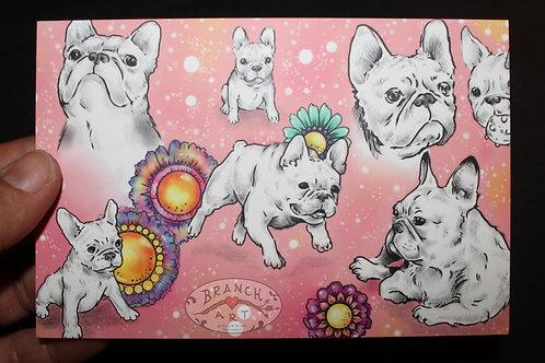 Postcard: Pinkie Frenchies