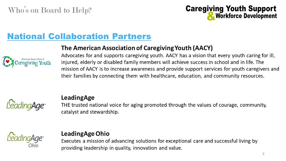 Caregiving Youth Support  - without RCF.
