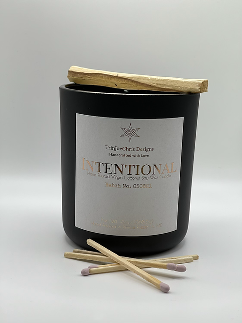 Intentional All Natural Candle w/ Palo Santo Smudge Stick