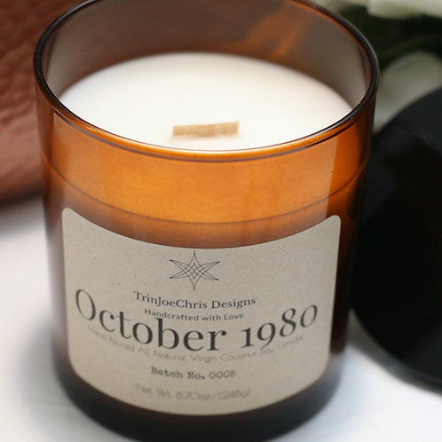 October 1980 Candle