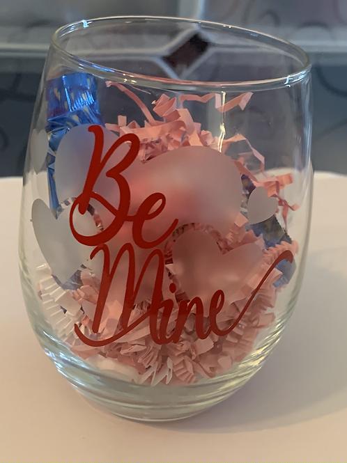 Be Mine Wine Glass