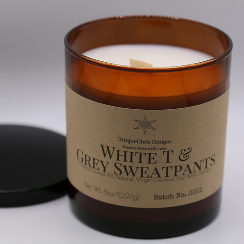 White T & Grey Sweatpants Candle