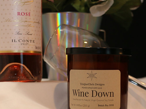Wine Down Candle