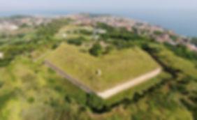Forte Umberto Ancona saliente fronte d'attacco fossato