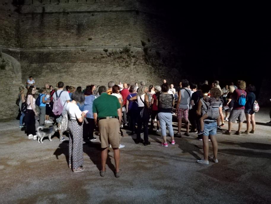 Esplorazione notturna lungo la terza linea difensiva di Ancona