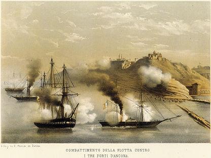 Assedio di Ancona 1860 duomo san ciriaco pontificio papale porta pia cittadella piemontesi fanti cialdini lamoriciere