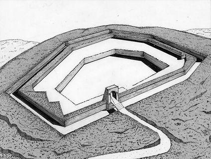 Ricostruzione disegno di forte Lucarino Ancona (Glauco Luchetti)